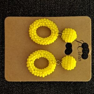 JCrew Yellow Beaded Earrings